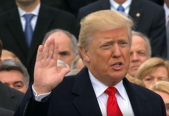 trump sworn